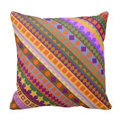 Arizona Aztec Desert Colors Southwest ZigZag Pillow