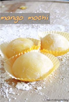 Mango Mochi {recipe}. I never knew mochi was so easy to make!