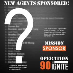We are 1/4 of the way to Ignite and here is a teaser of the Mission Sponsor standings that are part of Operation 90 to Ignite. Visit our official Facebook at facebook.com/SeacretDirect for the current list. Remember to use #90toIgnite when posting!