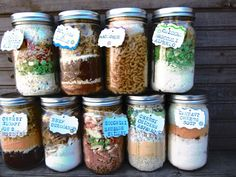 Dry Pre-Measured Complete Meals In Jars (just add water and cook!)  Why didn't I think of that?!