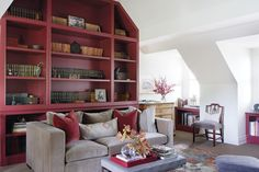 Color Crush: Oxblood Dials Up The Drama For Winter - House & Home Farrow Ball, Behr, Benjamin Moore, Taupe Sofa, Burgundy Walls, Modern Georgian, Red Paint Colors, Design Salon, Eclectic Living Room