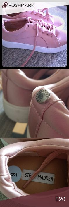 Steve Madden sneakers Blush color platform sneakers in 9. Cute. Steve Madden Shoes Athletic Shoes