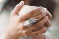 geometric agate ring / boho-geometric ring / pyramid by Onata. too bad its over $100