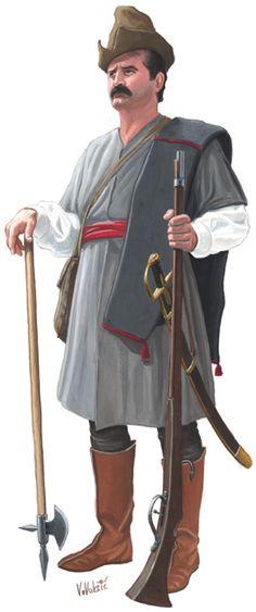 Croatian infantryman, 1665