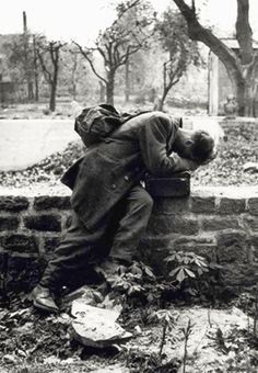 A German POW returns home to find his house has been destroyed and his family killed, 1946