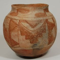"#adobegallery - Historic Santa Ana Pueblo Footed Olla, circa 1930. Category: Historic Origin: Santa Ana Pueblo Medium: Native materials Size: 8-1/4"" tall x 8-3/4"" diameter Item # 24168"