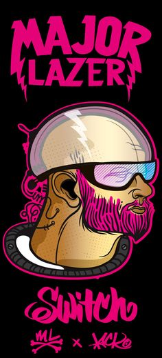 MAJOR LAZER & THE FLYIN' ZION LION OF FREEDOM TEE! by LACKO ILLUSTRATION, via Behance
