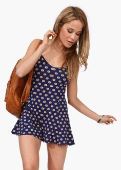 Tripping Daisies Romper   Necessary Clothing - $24.99
