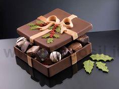 Square Box Christmas chocolate mould, christmas chocolate moulds, christmas chocolate molds, christmas molds, silicone candy molds, christmas moulds