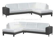Loungebank zwart met wit