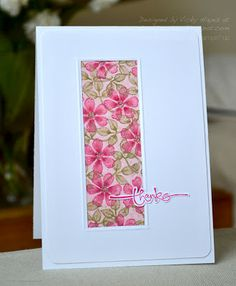 Stampin' Up  cut out thanks, scored opening using square punch