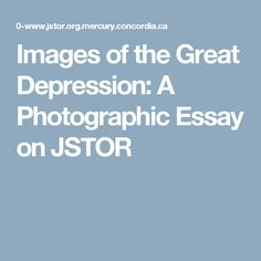 Essay on depression