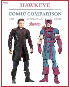 "3,108 Likes, 19 Comments - • Accurate.MCU • mcu fanpage (@accurate.mcu) on Instagram: ""• HAWKEYE - COMIC COMPARISON • Since Hawkeye is one of my favorite characters I had to make a…"""