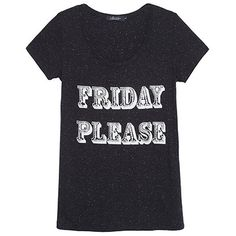J. CHERMANN T-shirt Friday preta