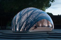 ICD x ITKE pavilion innovates construction methods with biological processes - News - Frameweb