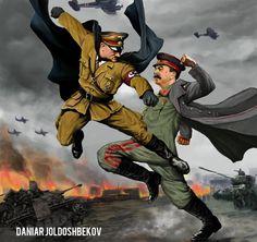 hitler vs stalin by DANIAR JOLDOSHBEKOV   Illustration   2D   CGSociety Deadpool, Superhero, Fictional Characters, Art, Kunst, Gcse Art, Fantasy Characters, Sanat