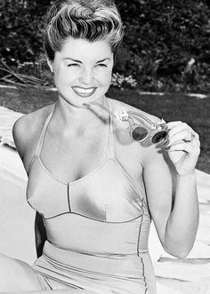 Esther Williams at her home, 1948