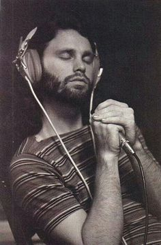 Jim Morrison in the studio.