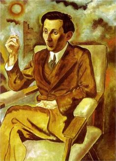 George Grosz, Portrait of the Writer Walter Mehring, 1925