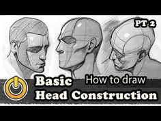 """drawingden: """" How To Draw a Basic Head Construction Pt ½ by REIQ """" Figure Drawing Tutorial, Manga Tutorial, Figure Drawing Reference, Mask Drawing, Drawing Tips, Drawing Stuff, Drawing Ideas, Drawing The Human Head, Drawing School"""