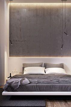 bedroom wall / LOFT66, Warsaw by Vlad Kislenko | NEXTINCT