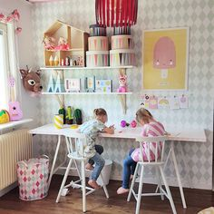 Girl Room, Girls Bedroom, Kids Play Spaces, Girl Desk, Kids Homework, Kids Study, Small Apartment Decorating, Playroom, Rooms