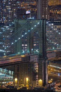 NYC. Brooklyn Bridge Close up