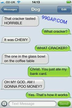 Texts from dog texts юмор Funny Dog Texts, Funny Texts Jokes, Funny Texts Crush, Text Jokes, Funny Text Fails, Funny Text Messages, Funny Dogs, Funny Memes, Stupid Texts