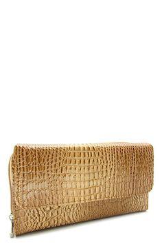 Beige Textured Zipper Wallet   #DiscountedPalace #ZipAround