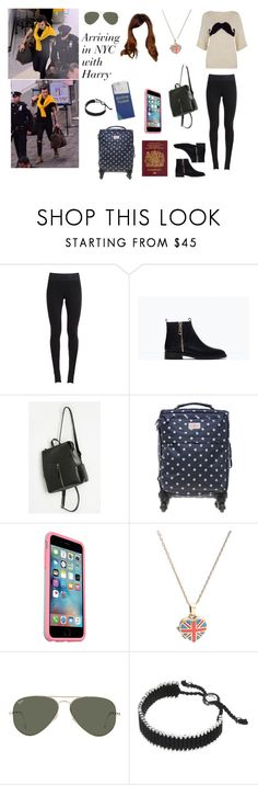 """""""Arriving in NYC with Harry"""" by tayler-dukes ❤ liked on Polyvore featuring NIKE, Zara, Cath Kidston, OtterBox, Ray-Ban, Links of London, OneDirection, harrystyles and NYC"""