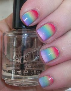 Painted Nubbs: My Birthday Nails