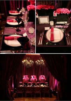 Pink & Black Wedding Decoration.. Omg its like they can hear my thoughts lol
