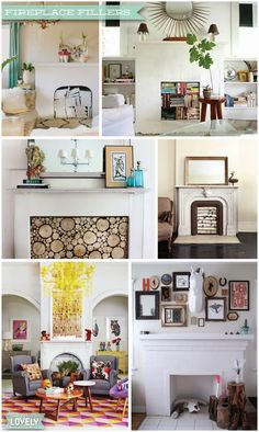 Fireplace fillers, fireplace decor, holiday fireplace, logs in the hearth, Christmas fireplace decorations, Wouldn't it be Lovely