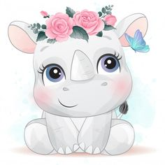 Discover thousands of Premium vectors available in AI and EPS formats Cute Animal Illustration, Cute Animal Drawings, Cute Drawings, Cute Images, Cute Pictures, Foto Baby, Watercolor Effects, Cute Cartoon Wallpapers, Wallpaper Iphone Cute