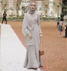 to my full dress for my beautiful sobi wedding . Kebaya Modern Hijab, Kebaya Hijab, Kebaya Brokat, Dress Brokat, Kebaya Dress, Kebaya Muslim, Muslim Dress, Batik Fashion, Abaya Fashion
