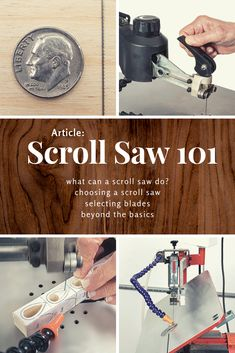 Scroll Saw 101 - Woodworking Woodworking Hand Tools, Cool Woodworking Projects, Custom Woodworking, Woodworking Plans, Diy Projects, Woodworking Chisels, Auction Projects, Wood Tools, Woodworking Techniques