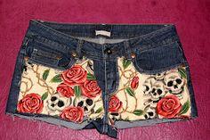 #shorts #skulls #roses BaRRaCuDa SSHoP Skulls, Roses, Shorts, Stuff To Buy, Fashion, Moda, Pink, Fashion Styles, Rose