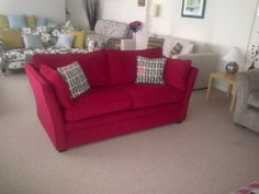 A fitted cover on the Warnock sofa / sofa bed we offer from one of our UK suppliers