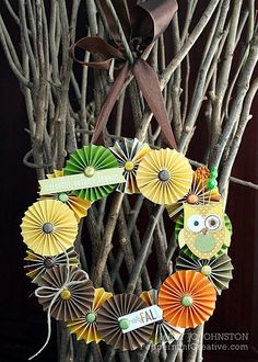 Fall Wreath - what a cute idea by @Mary Jo Johnston