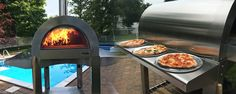 Enjoy delicious homemade Italian pizza with the ilFornino Wood Fired Pizza Ovens. Perfect for your backyard or outdoor entertainment area.