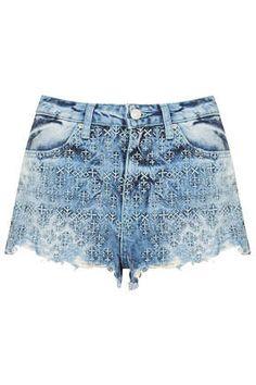 MOTO Folk Embroidered Hotpants | topshop