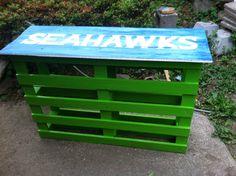 SeaHawk themed bar pallet wood