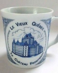 Le Chateau Frontenac Hotel Coffee Mug Historic Quebec City French Canada