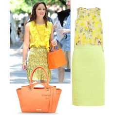 I recreated another look from Blair Waldorf on Gossip Girl. It is a very sunny and summery look perfect for walking around NYC!! Follow me here and on Polyvore as BakingBowsandBooks for more!!