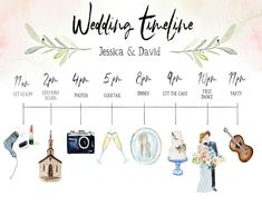 Watercolor Wedding Timeline Watercolor Wedding Timeline,DIY Watercolor Wedding Timeline Related posts:Calendar Save The Date Card Wedding Invitation with Envelope Personalised Wedding Schedule, Wedding Day Timeline, Plan Your Wedding, Wedding Tips, Wedding Cards, Wedding Events, Wedding Beauty, Wedding Checklist Timeline, Reception Timeline