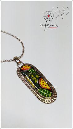 enamel, pendant