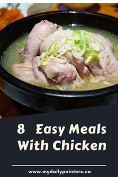 Are you looking for cheap and easy chicken dinner ideas? Check out our list of budget-friendly and healthy chicken recipes made from a Rotisserie Chicken! Healthy Eating Tips, Good Healthy Recipes, Healthy Chicken Recipes, Cooking Recipes, Healthy Foods, Lunch Recipes, Turmeric Health Benefits, Cold Home Remedies, Easy Meals