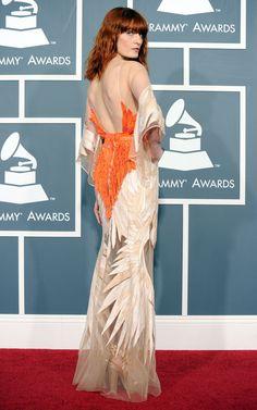 2011 Florence Welch en Givenchy par Riccardo Tisci aux Grammy Awards en 2011