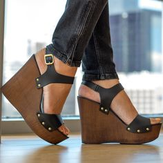 Cork heels fetish