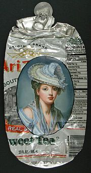 New Historical Portraits on Flattened Cans by Kim Alsbrooks